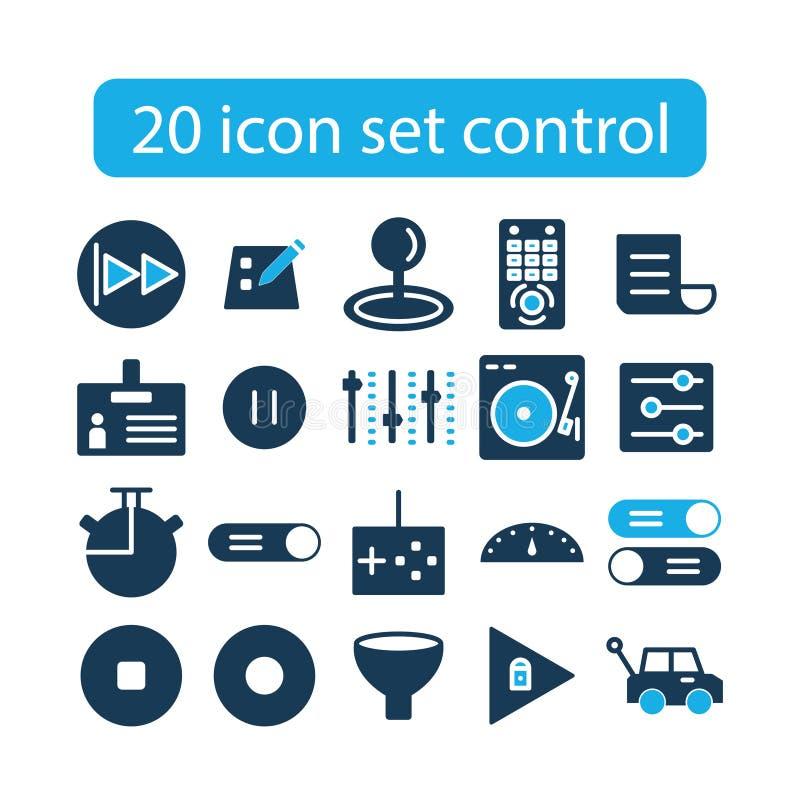 Conception de contrôle réglée d'icône photo stock