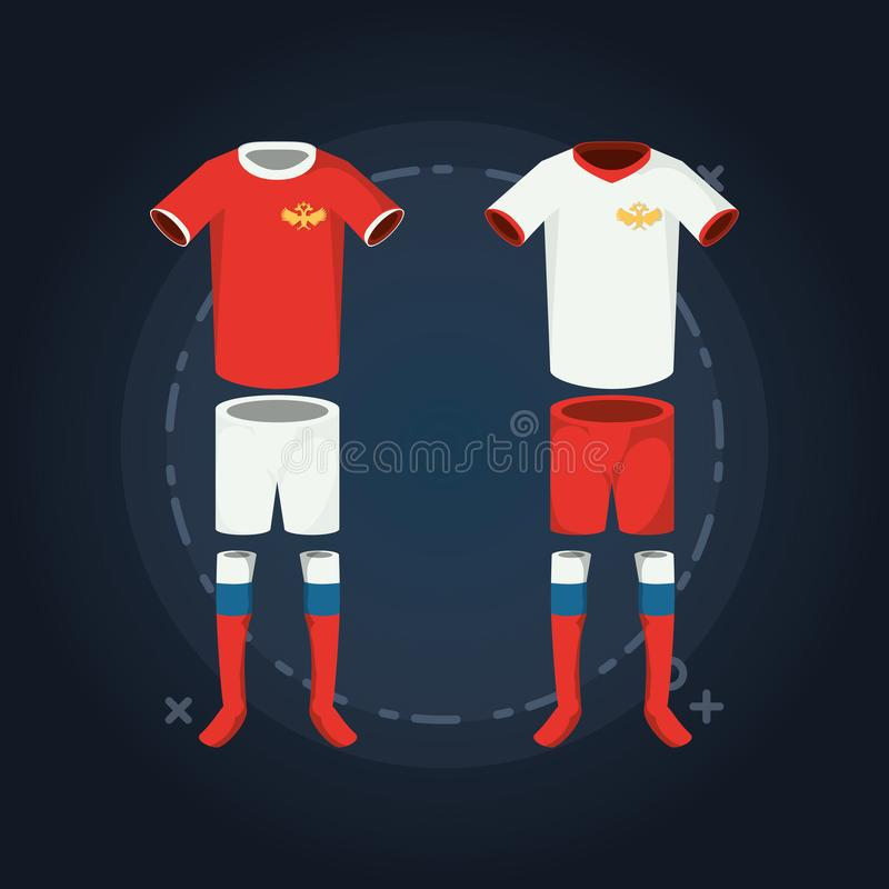 Conception de coupe du monde du football de la Russie illustration de vecteur