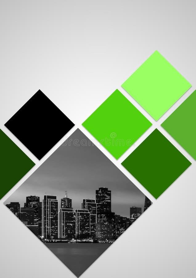 Conception de couverture de brochure pour 2018 avec le thème de couleur verte photo libre de droits
