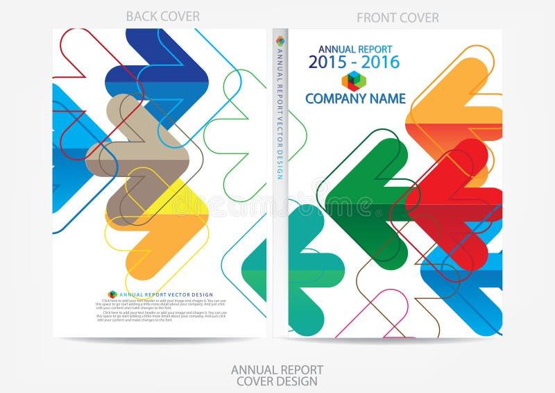 Conception de couverture de rapport annuel  illustration libre de droits