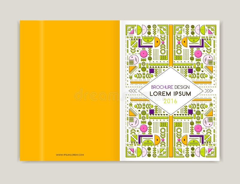 Conception de couverture pour l'insecte de tract de brochure Schéma moderne fond Fond coloré géométrique abstrait Taille A4 illustration libre de droits