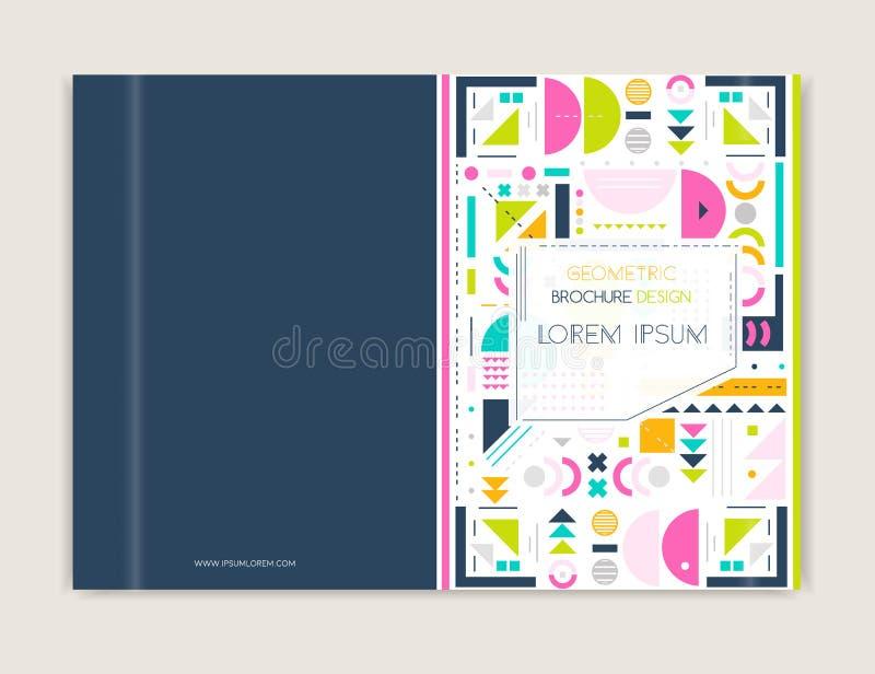 Conception de couverture pour l'insecte de tract de brochure Schéma moderne fond Fond coloré géométrique abstrait Taille A4 illustration de vecteur