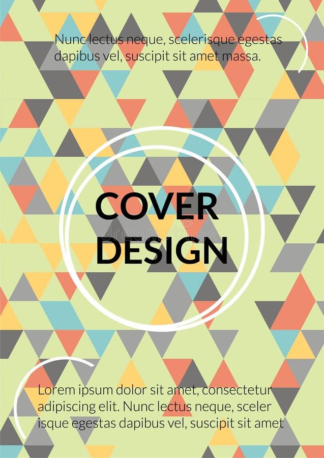 Conception de couverture de triangle Calibre pour des affaires Broshure, livre de couverture, insecte, carte illustration de vecteur