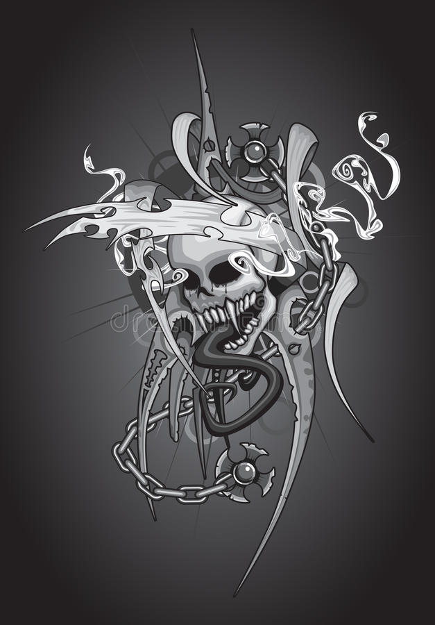 Conception de crâne image stock