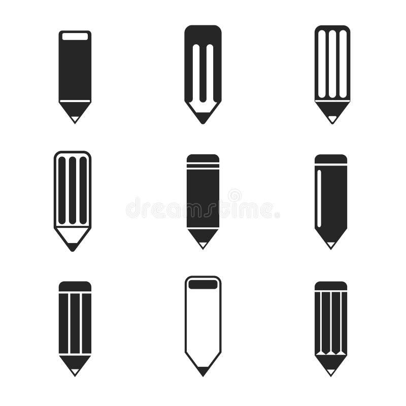 Conception de crayon Ensemble d'icône Illustration de vecteur d'ENV 10 illustration de vecteur