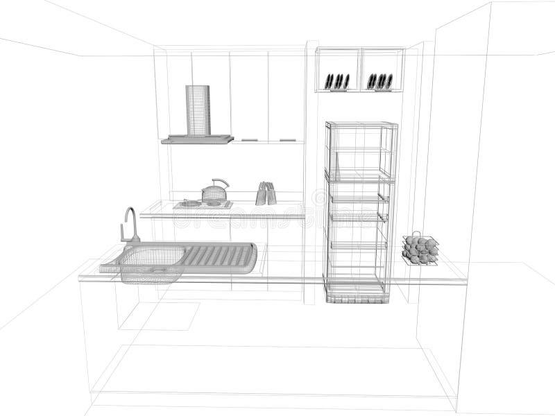 Conception de croquis de cuisine illustration stock illustration du neuf industrie 36945425 - Conception de cuisine ...