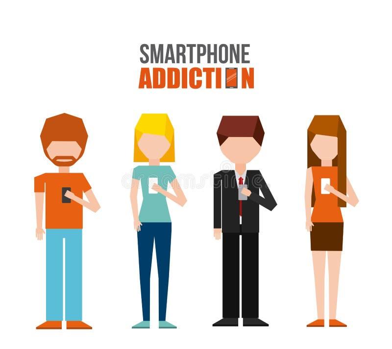Conception de dépendance de Smartphone illustration stock