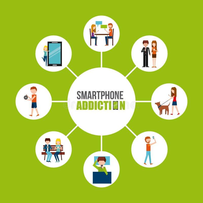 Conception de dépendance de Smartphone illustration de vecteur