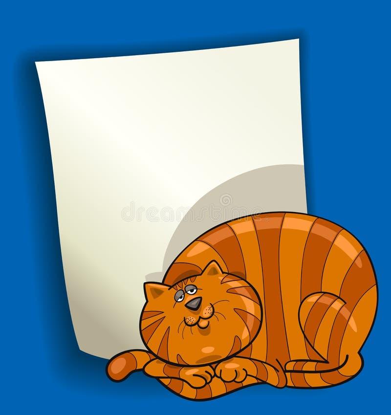 Conception de dessin animé avec le gros chat rouge illustration stock