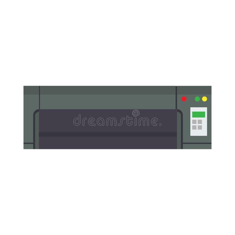 Conception de dispositif d'icône de vecteur d'équipement de bureau d'imprimante Électronique simple d'encre du travail de pictogr illustration libre de droits
