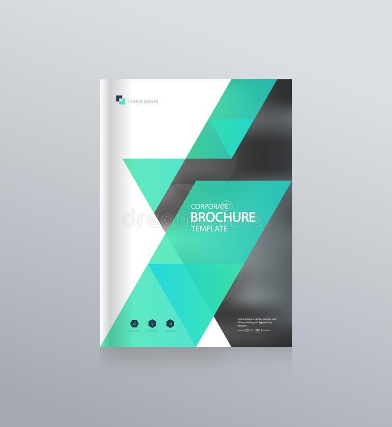 Conception de disposition de calibre avec la page de couverture pour le profil d'entreprise, rapport annuel, brochures, insectes, illustration stock