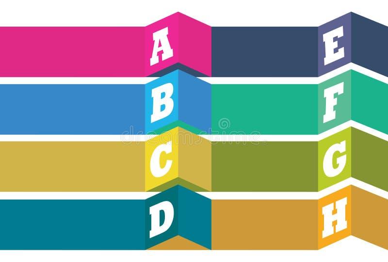 Conception de disposition de vecteur avec la liste de gros points noirs d'alphabet illustration de vecteur