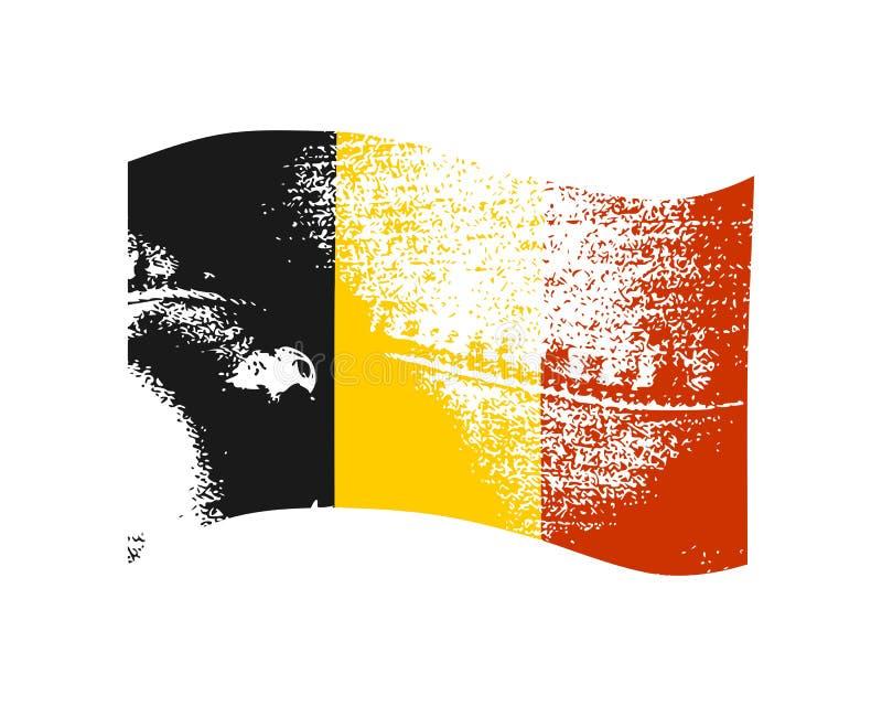 Conception de drapeau de la Belgique illustration de vecteur
