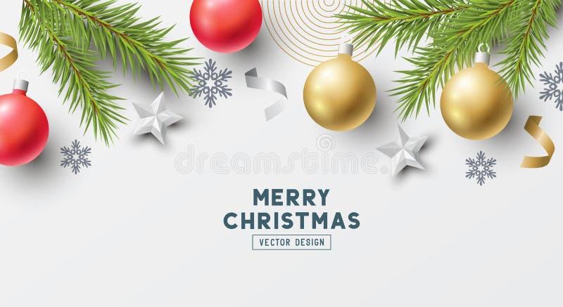 Conception de fête de vecteur de bannière de Noël illustration libre de droits
