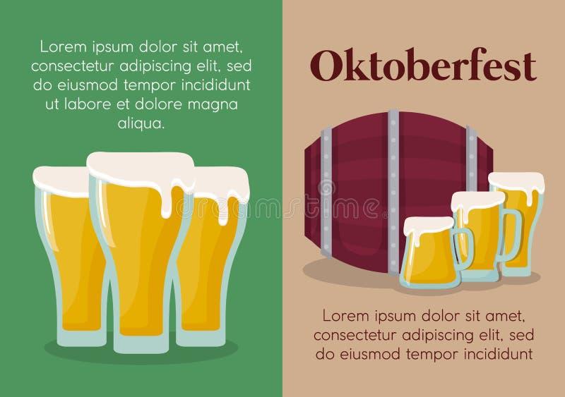 Conception de festival d'Oktoberfest avec l'ilustration de vectot d'icône illustration libre de droits