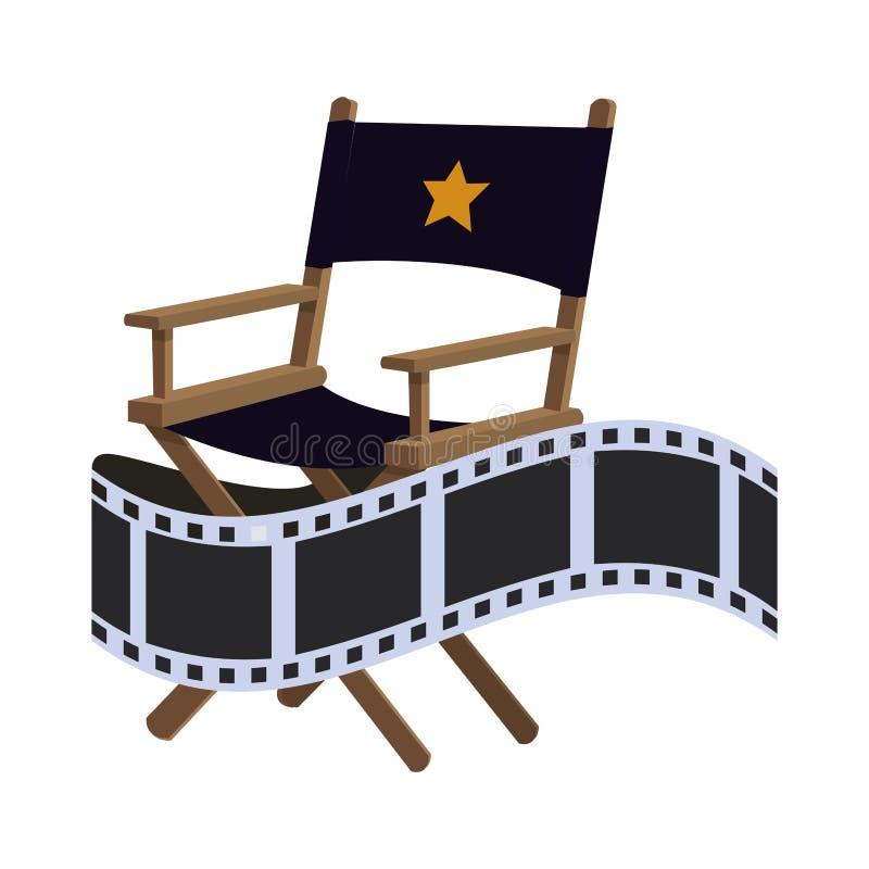 Conception de film de cinéma de chaise de directeur illustration de vecteur