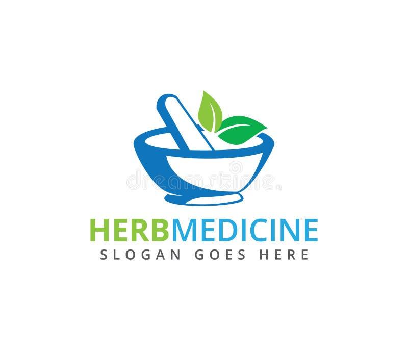 Conception de fines herbes de logo de vecteur de clinique de médecine de traitement médical de pharmacie illustration libre de droits