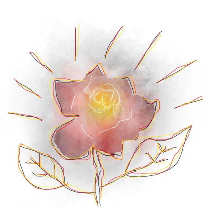 Conception de fleur d'aquarelle photos stock