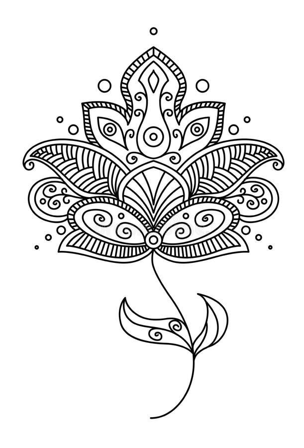 Conception de fleur de Paisley de Persan illustration libre de droits