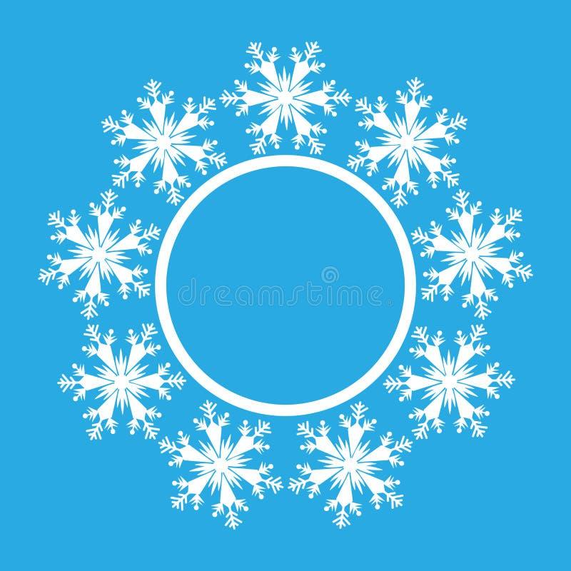Conception de flocon de neige pour le fond de cadre Illustration de vecteur Modèle d'hiver Graphique de mode Couleurs blanches et illustration de vecteur