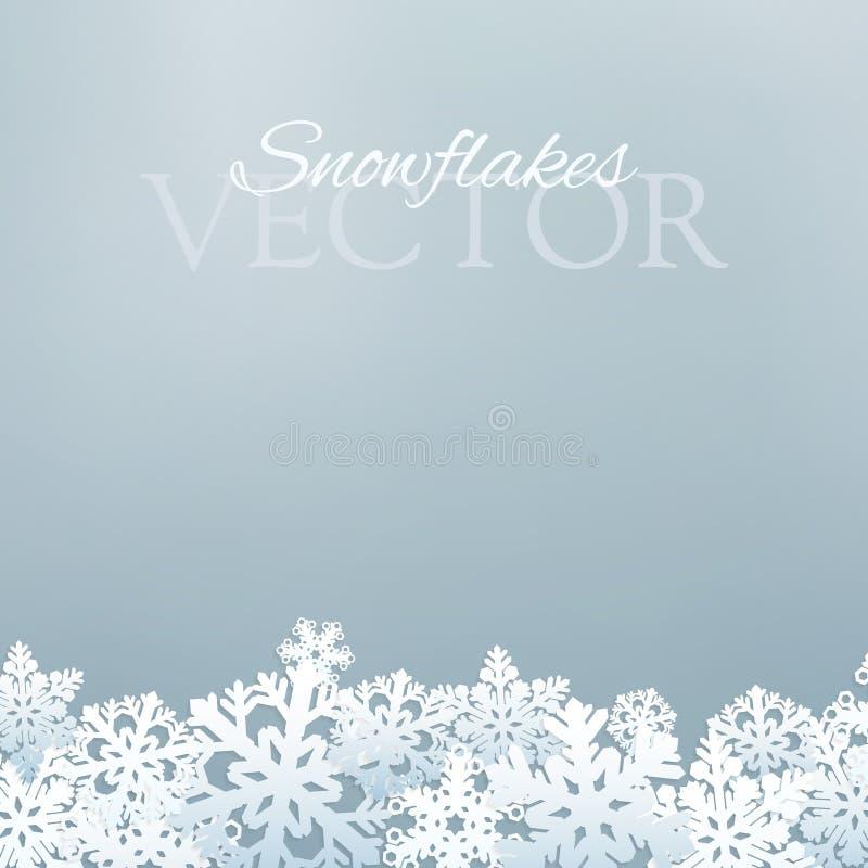 Conception de flocons de neige illustration stock