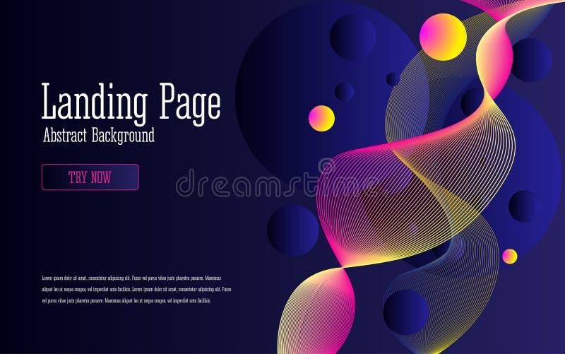 Conception de fond avec des formes multicolores abstraites d'écoulement illustration de vecteur