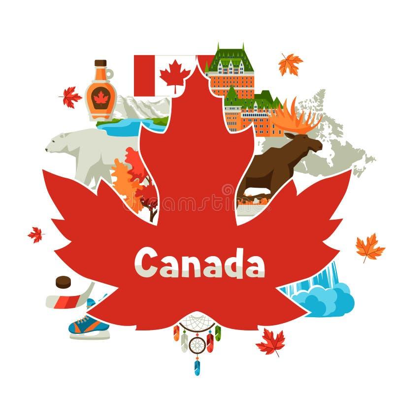 Conception de fond de Canada illustration de vecteur
