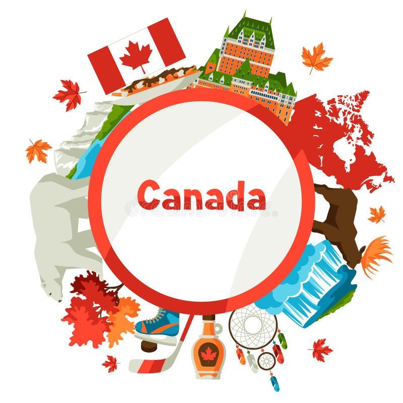 Conception de fond de Canada illustration libre de droits