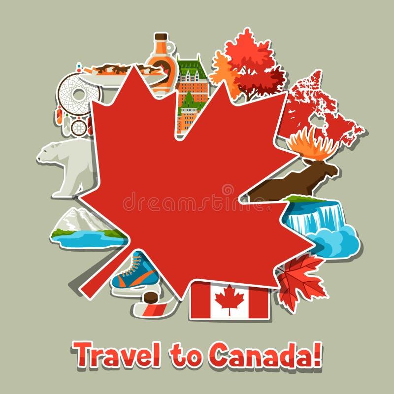 Conception de fond d'autocollant de Canada illustration libre de droits