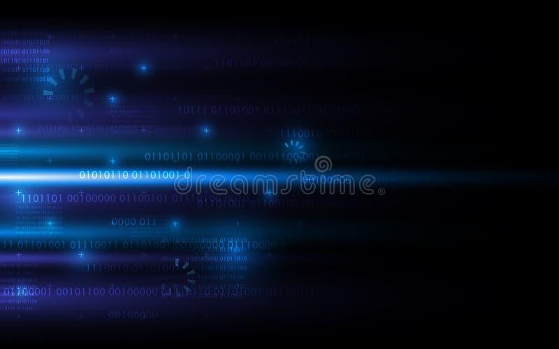 Conception de fond de concept du sci fi d'Internet de mise en réseau de technologie numérique illustration stock