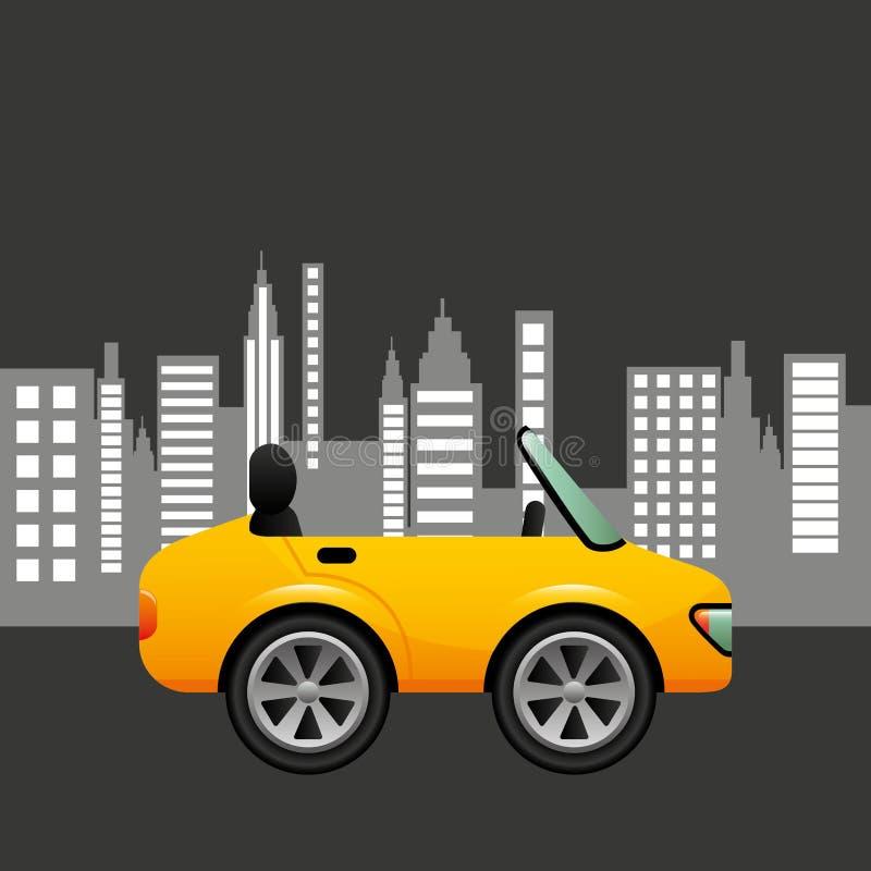 Conception de fond de ville de coupé de voiture de sport illustration stock