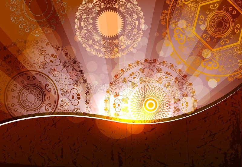 Conception de fond religieux pour le festival de diwali illustration stock