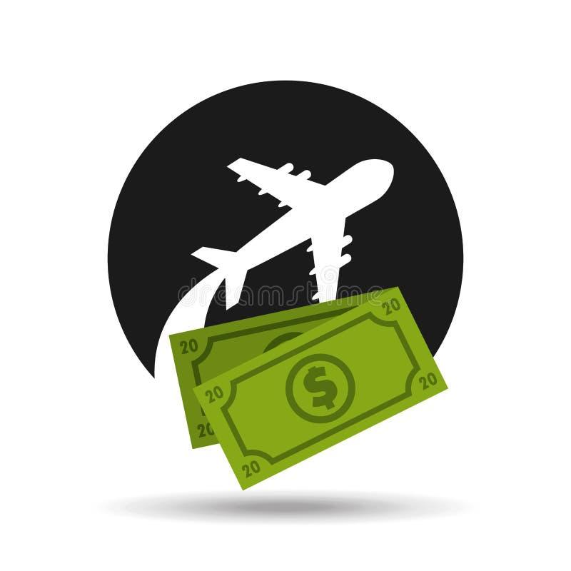 conception de frais de voyage illustration stock