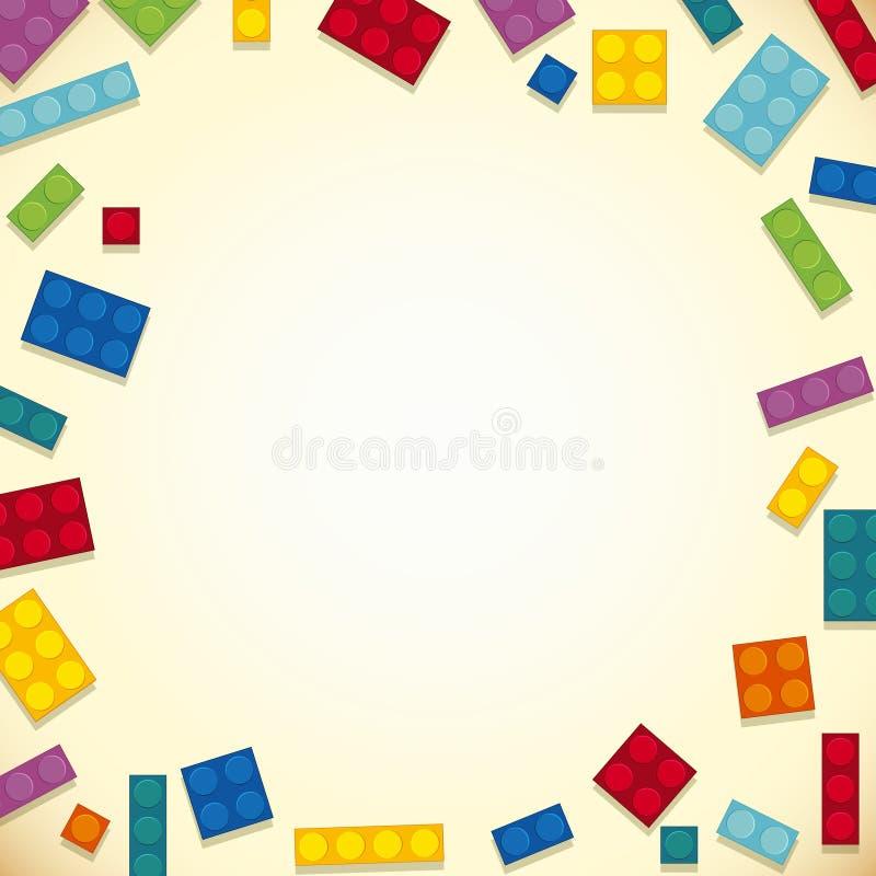 Conception de frontière avec les blocs colorés illustration de vecteur