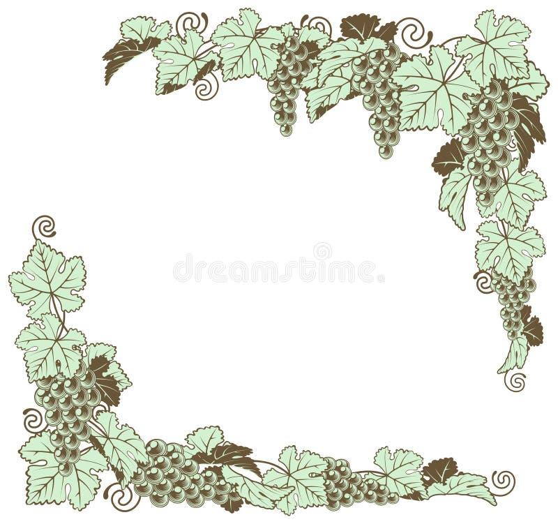 Conception de frontière de vigne illustration de vecteur