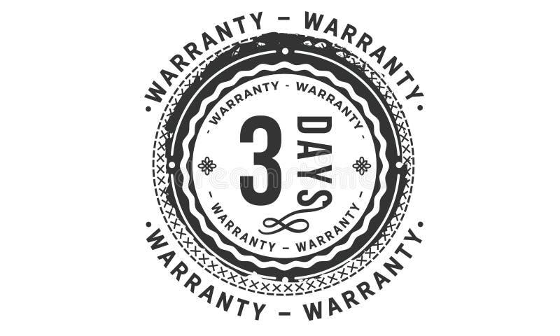 conception de garantie de 3 jours, le meilleur timbre noir illustration libre de droits
