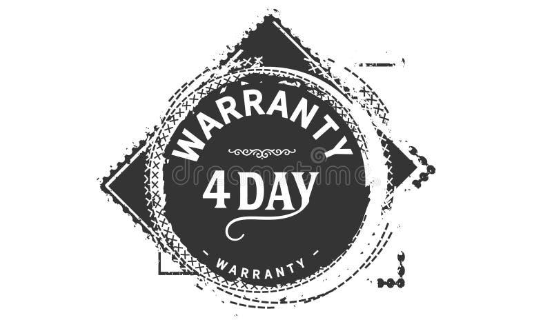 conception de garantie de 4 jours, le meilleur timbre noir illustration libre de droits