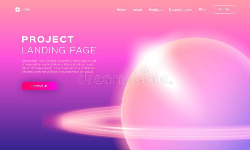 Conception de gradient de tendance pour le développement d'APP, la page Web, le site Web mobile ou le calibre de page d'atterriss illustration stock
