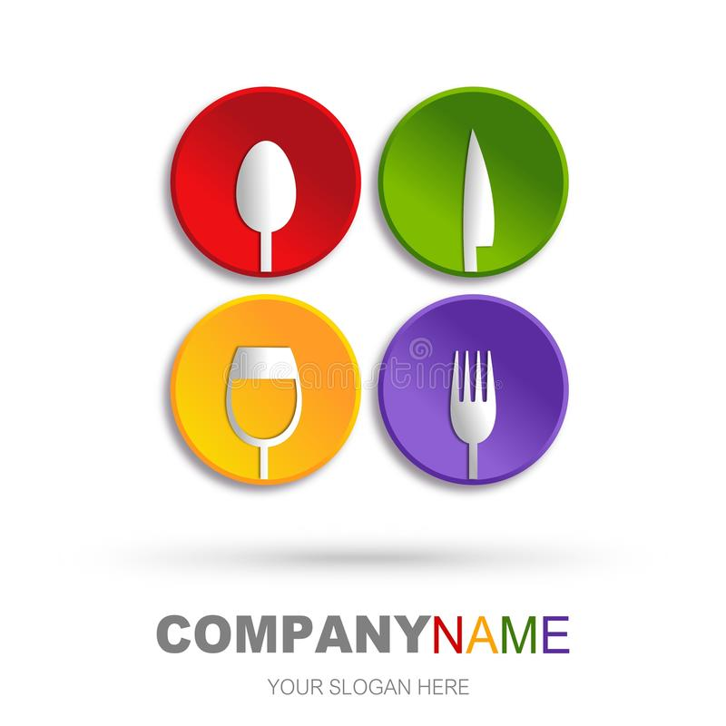 Conception de graphisme de restaurant illustration stock