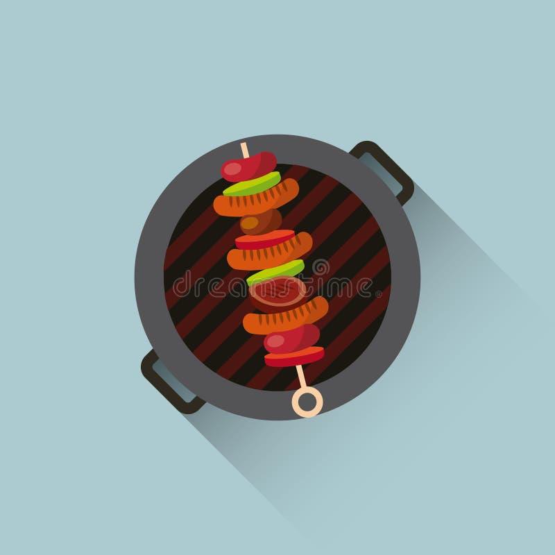 conception de gril de barbecue illustration libre de droits