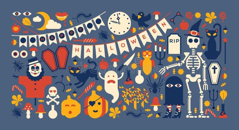 Conception de Halloween illustration stock