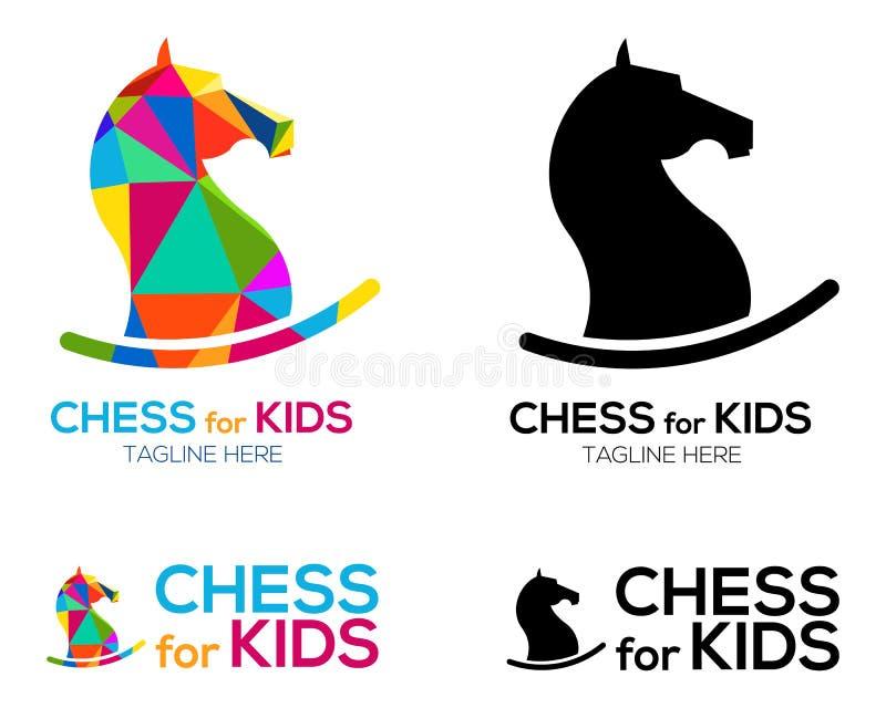 Conception de Horse Logo de chevalier d'échecs illustration de vecteur