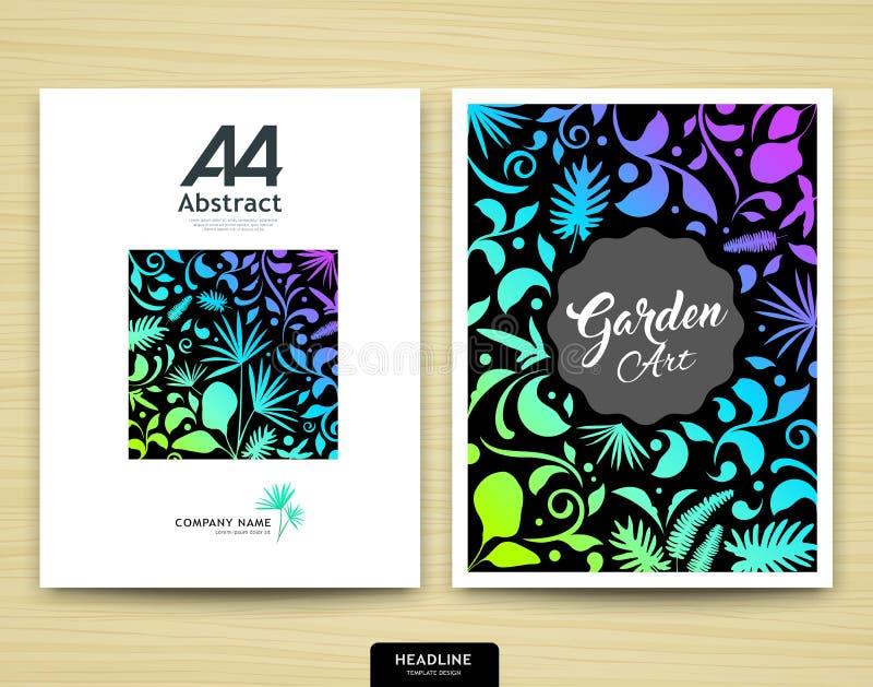 Conception de jardin d'abrégé sur rapport annuel de couverture illustration stock