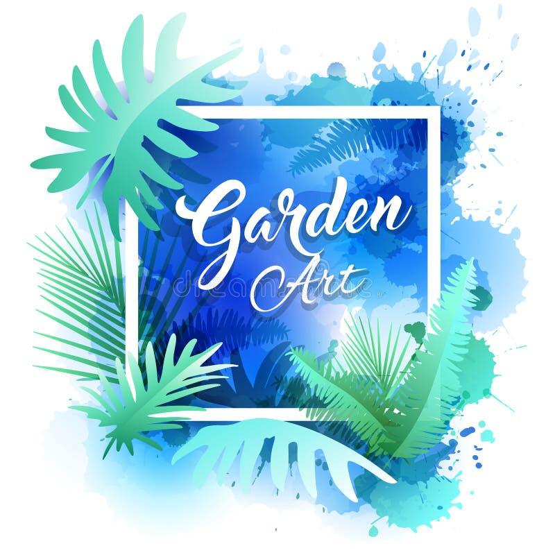 Conception de jardin d'abrégé sur rapport annuel de couverture illustration libre de droits