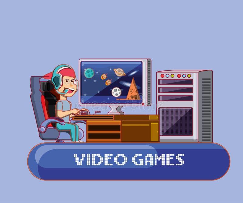Conception de jeu vidéo illustration stock