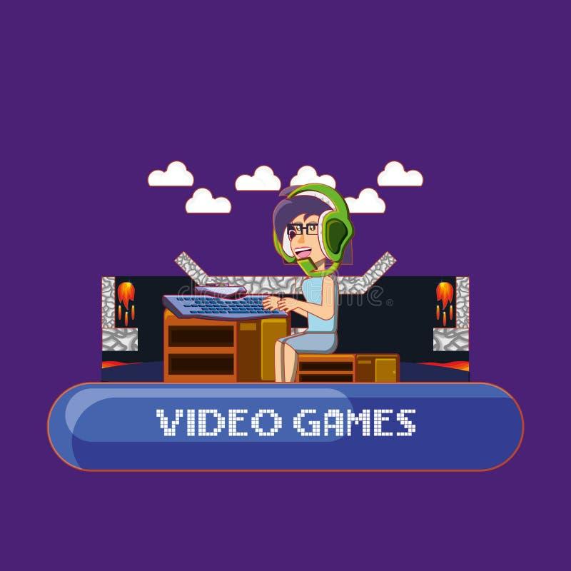 Conception de jeu vidéo illustration libre de droits