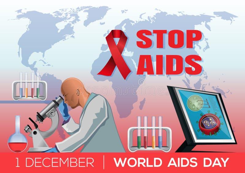 Conception de Journée mondiale contre le SIDA illustration libre de droits