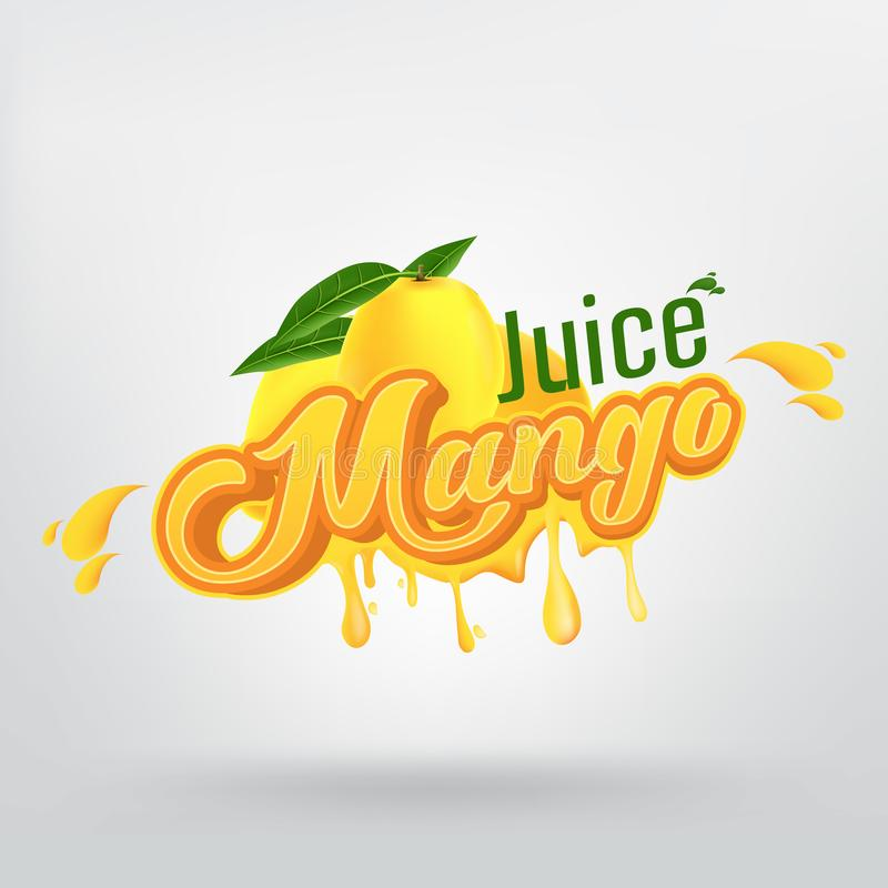 Conception de Juice Brand Company Vector Logo de mangue illustration stock