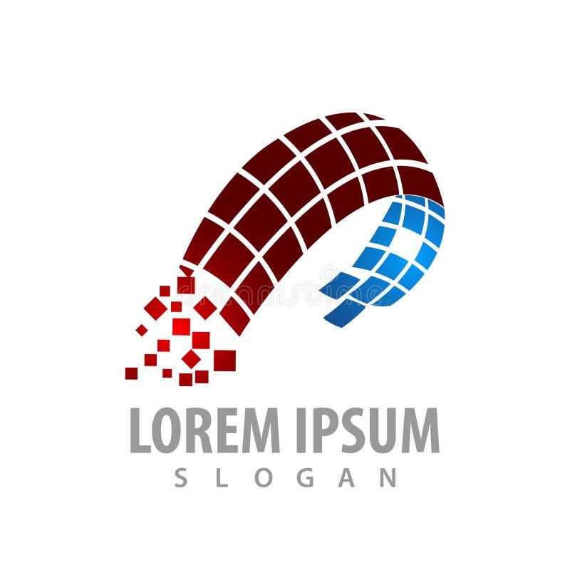 conception de l'avant-projet abstraite numérique de logo de technologie Vecteur graphique d'élément de calibre de symbole illustration libre de droits