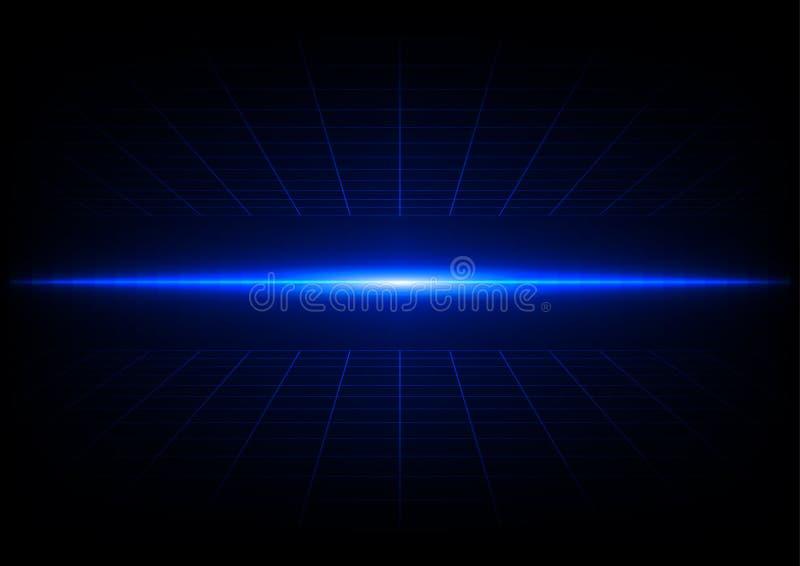 Conception de l'avant-projet bleue abstraite de technologie de grilles illustration de vecteur